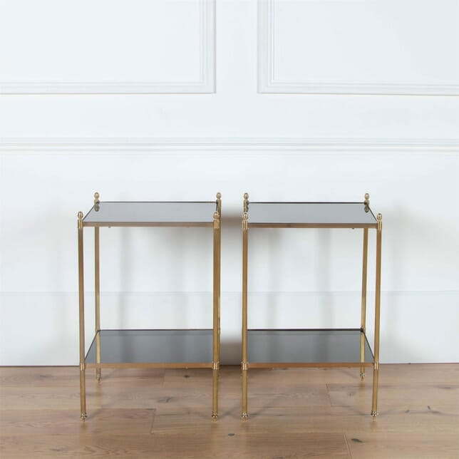 Pair French Brass End Tables TS3561056