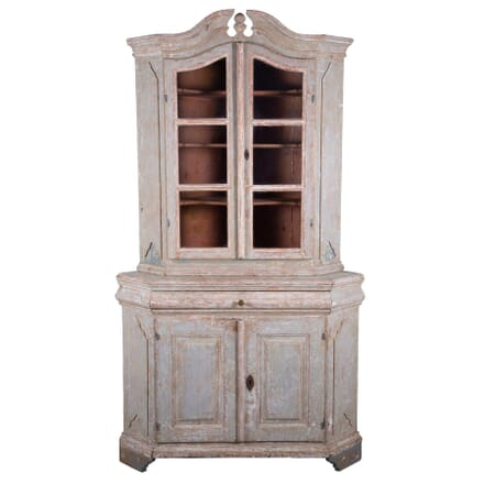 Swedish Corner Cabinet with Original Paint CU6059317