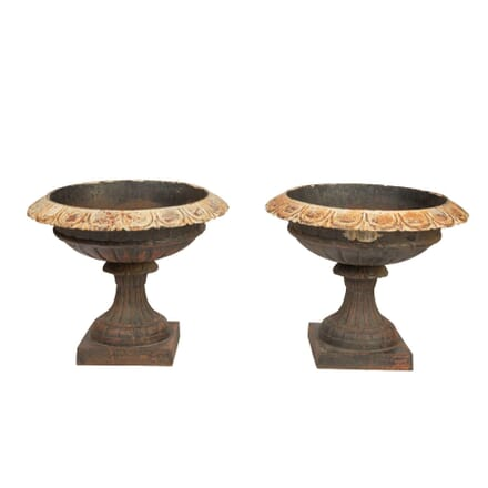 Pair of Cast Iron Urns GA9057610