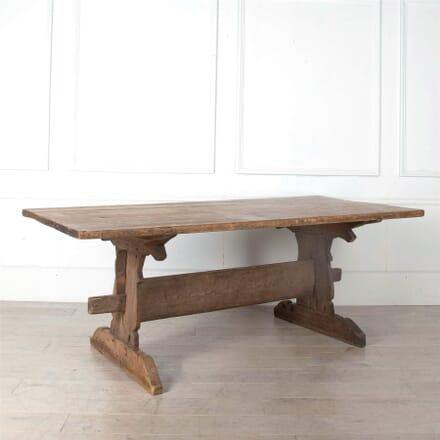 19th Century Farmhouse Trestle Table TD1161091
