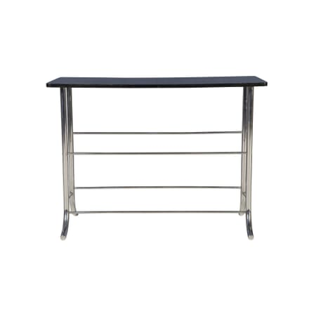 Art Deco Ebonised and Chrome Side Table TS5856923