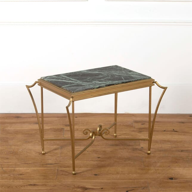 Green Marble Painted Iron Coffee Side Table CT587348