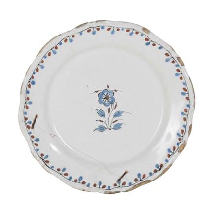 18th Century Faience Plate DA0153911