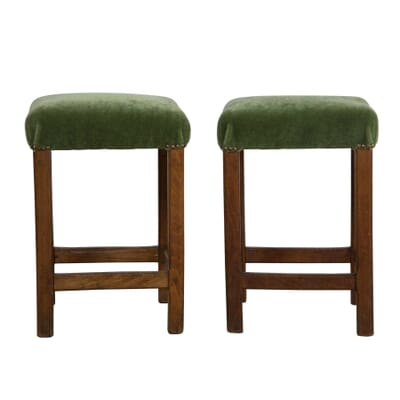 Cool Pair Of Upholstered Stools Pabps2019 Chair Design Images Pabps2019Com