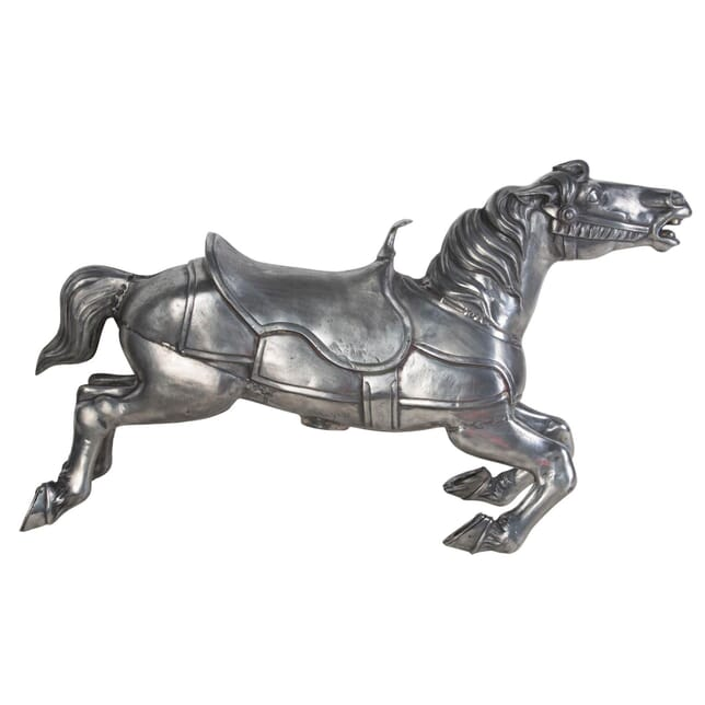 Fifties Polished Steel Fair Ground Horse DA0410263