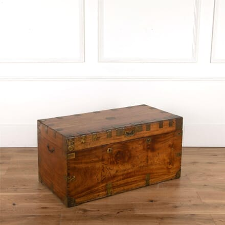 Anglo-Chinese Solid Camper Wood Campaign Trunk. OF6261954