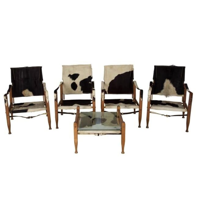 1930s Pony Skin Chairs and Table CH997483