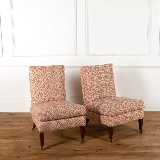 Pair of Howard and Sons Slipper Chairs CH237390