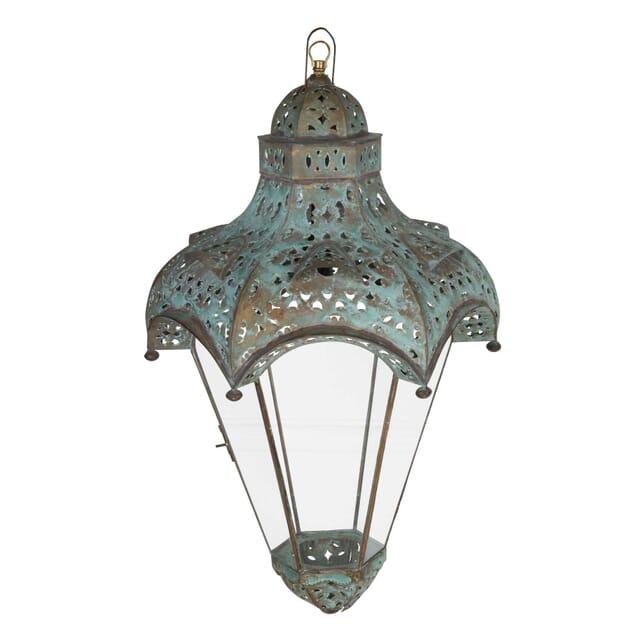 Pair of Painted Metal Lanterns LL1359802