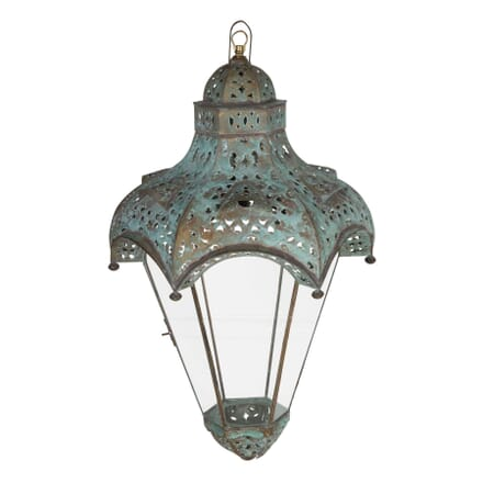 Pair of Painted Metal Lanterns LL1359802