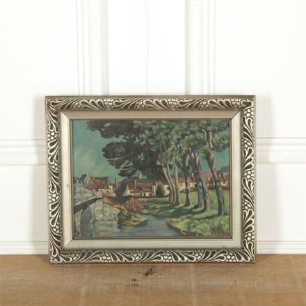 Art Deco Oil on Panel Landscape WD307333