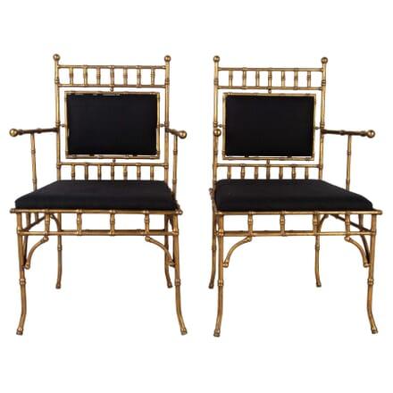 Pair of Maison Jansen Style Armchairs CH1560379