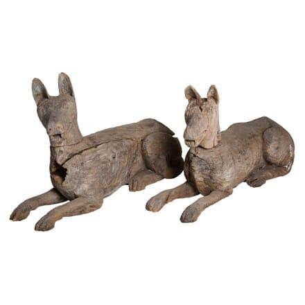 Pair of Carved Italian Dogs DA132913