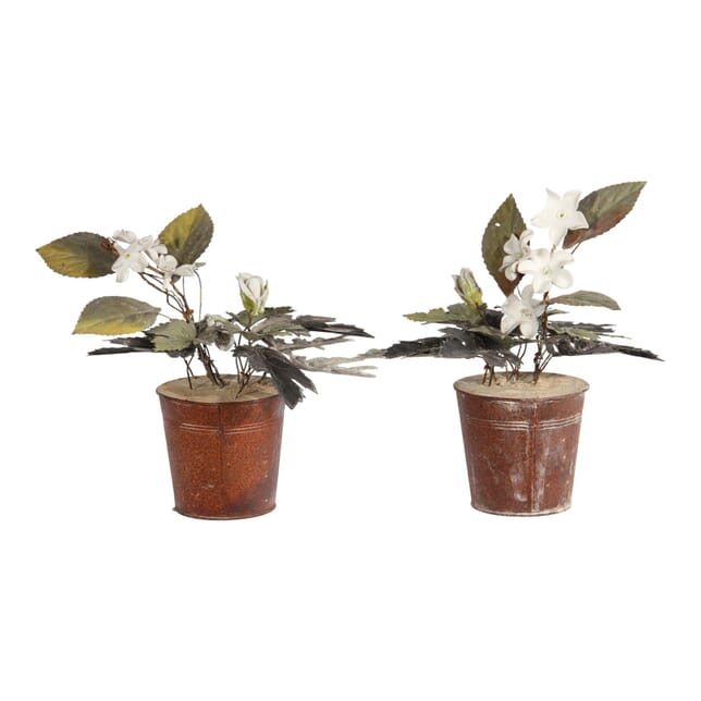 Tole and Porcelain Potted Plants DA150186