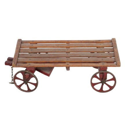 Wooden and Metal Toy Cart DA5558040