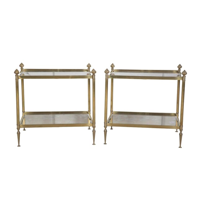 Pair of Brass End Tables TS3555537