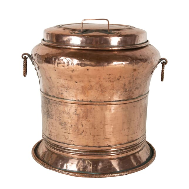 Round Copper Bin with Lid OF7260782