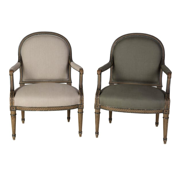 Matched Pair of Armchairs CH1358725