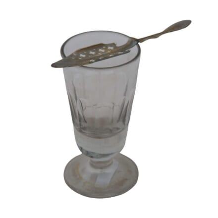 French Absinthe Glass and Spoon DA4454948