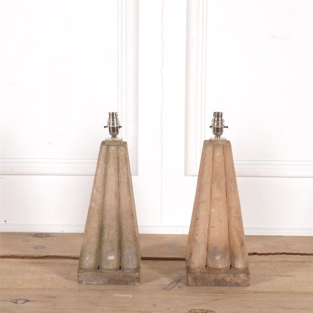 Pair of Composition Lamps MI2062626