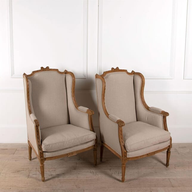 French Fruitwood Bergere Armchairs CH4861484