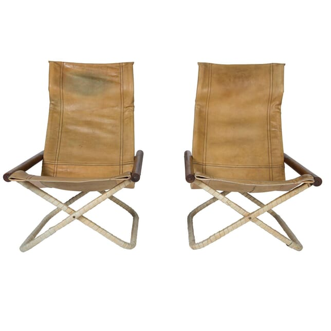 Pair of 1950s Leather Chairs CH9057154