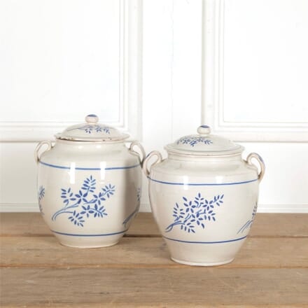 Pair of Confit Pots with Lids DA157710