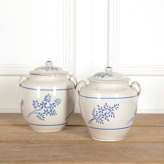 Pair of Rare Confit Pots with Lids DA157710