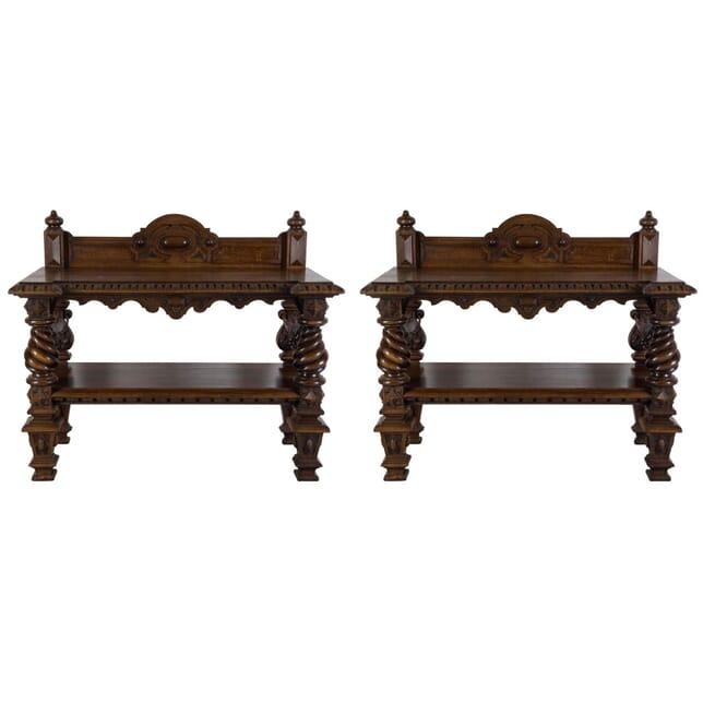Pair of Elizabethan Revival Buffets BU107908