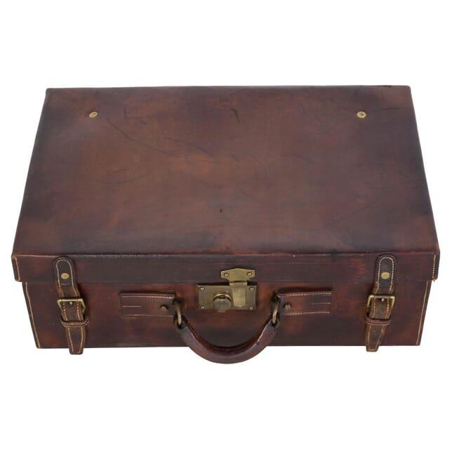 Gentlemans Leather Vanity Suitcase DA159379
