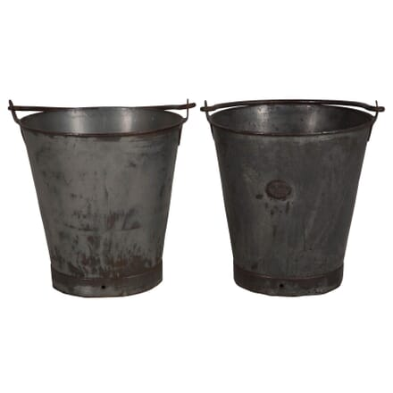 Pair of Steel Buckets DA016088