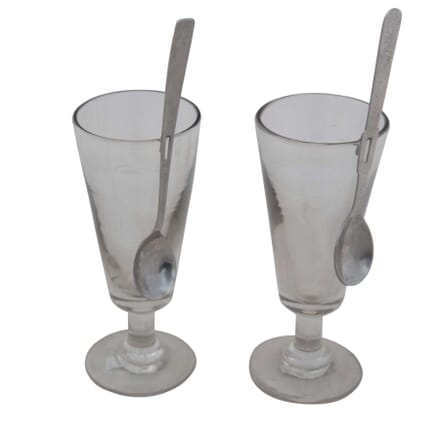Pair of Absinthe Glasses and Spoons DA4454965