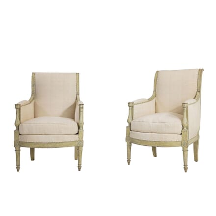 Pair of French Early 19th Century Painted Armchairs CH067414
