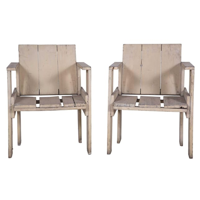 Pair of Crate Chairs by Gerrit Thomas Rietveld CH7359946