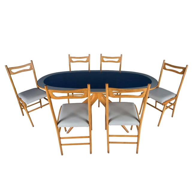 Italian Blue Glass Dining Suite TD5358110