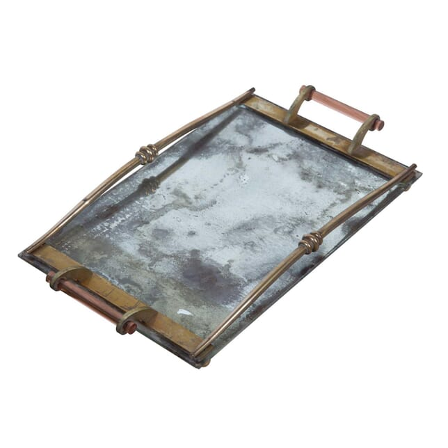 1940's Glass and Brass Tray DA2955007