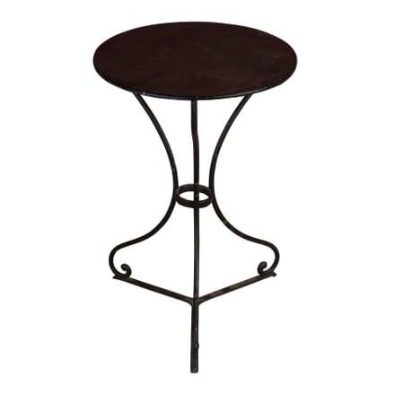 Small Round Black Iron Café Table DA4458655