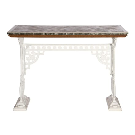 Cast Iron Centre Table with Marble Top TC101614
