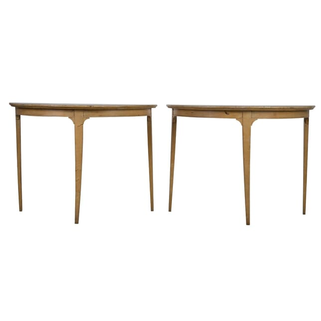 Pair of Swedish Demi Lune Tables TS0155047
