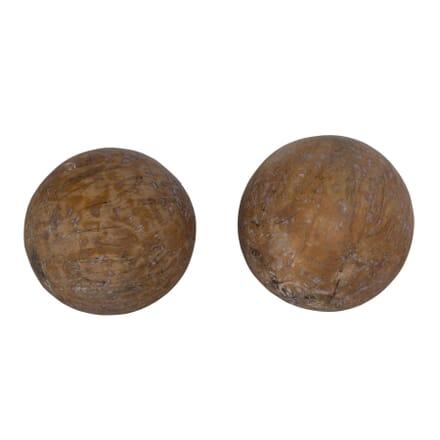 Pair French Wooden Balls DA449753