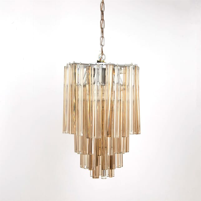 1970's Venini Crystal Chandelier LC537251