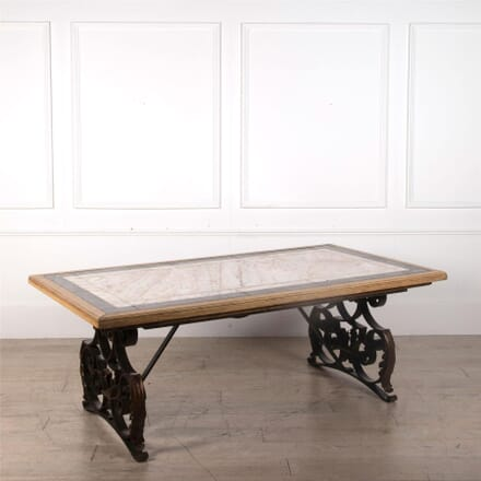 19th Century Marble and Iron table TD5262386