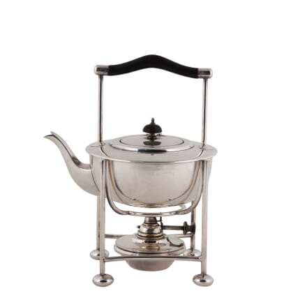 Edwardian English Silver Plated Warming Teapot Kettle DA5860330