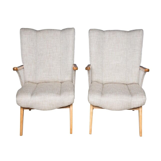 Pair of Gelenka Armchairs with Wooden Arms CH5355974