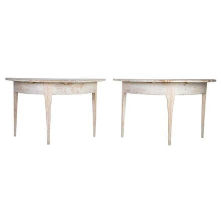Pair of 18th Century Swedish Demi Lune Console Tables TS0212306