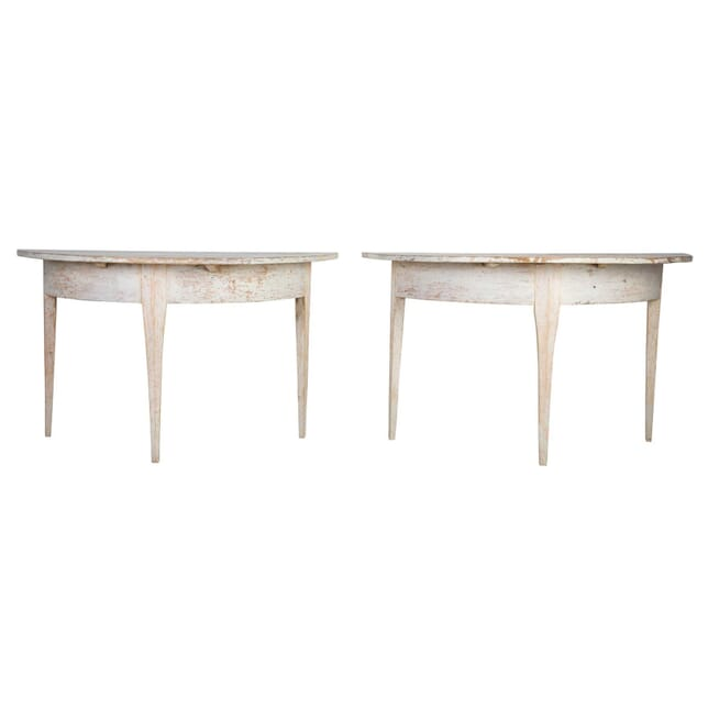 Pair of Demi Lune Tables TS0212306