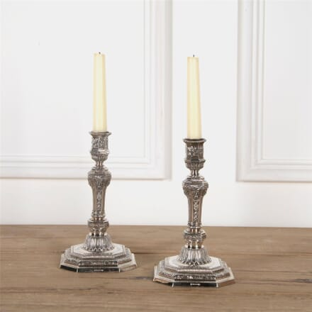 Magnificent Christofle Silver Plated Candlesticks DA5862048