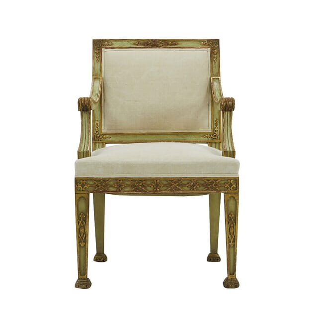 19th Century Italian Painted and Gilt Armchair CH0662266