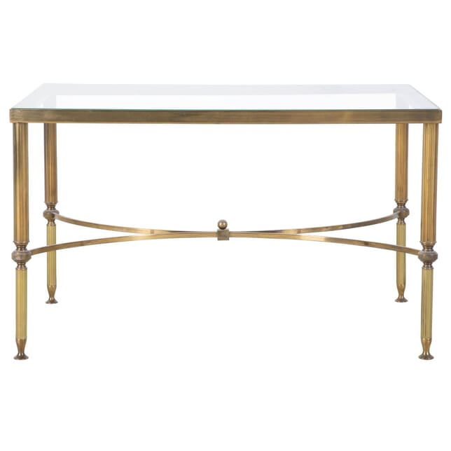 1960s Brass and Glass Low Table CT048472