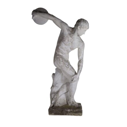 Large Statue of a Greek Discus ThrowerAthlete GA4360544